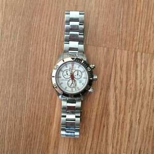 Invicta Pro Diver Silver Fold Over Wrist Watch